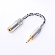 OKCSC 4.4mm Balanced Female 4 pole Adapter Turn to 3.5mm Stereo Male OCC for Hifi Audiophiles Earphone SONY NW-WM1Z/NW-WM1A