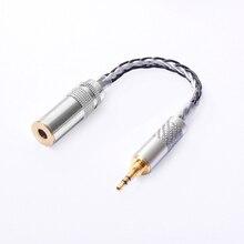 OKCSC 4.4mm Evenwichtige Vrouwelijke 4 pole Adapter Turn naar 3.5mm Stereo Mannelijke OCC voor Hifi Audiofielen Oortelefoon voor SONY NW WM1Z/NW WM1A