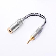 OKCSC 4.4mm équilibré femelle 4 pôles adaptateur tourner à 3.5mm stéréo mâle OCC pour Hifi Audiophiles écouteur pour SONY NW WM1Z/NW WM1A