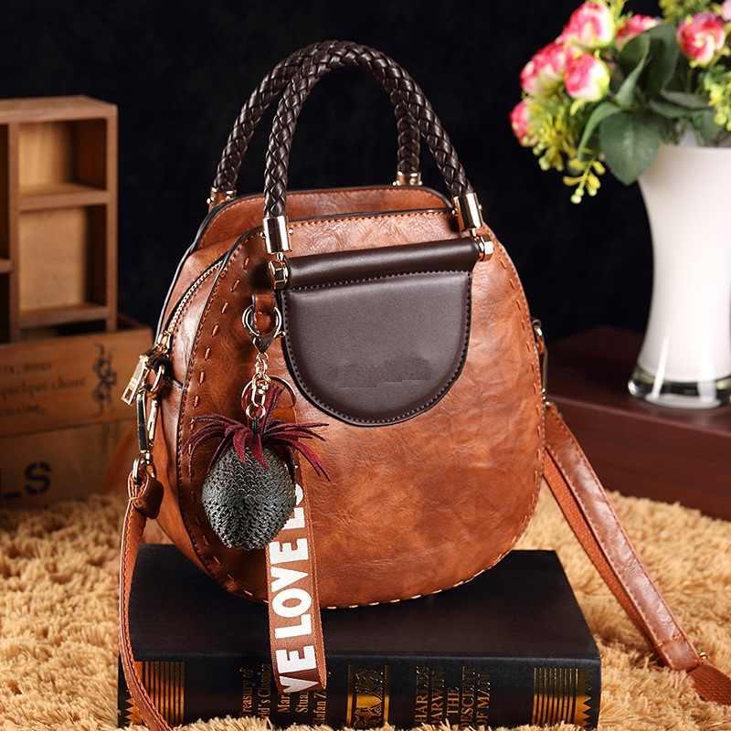 Vintage Mode Echt Leer Vrouwen Emmer Tas Handtas Vintage Kwastje Messenger Bags Hoge Kwaliteit Retro Schouder Crossbody T23