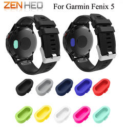 10 шт./лот браслет порт протектор стойкие и Анти-пыль Вилки для Garmin Fenix 5 smartwatch силиконовый чехол высокого качества