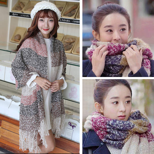 a1f48c030 Detail Feedback Questions about 2019 Winter Scarf Women Cashmere Wool Scarves  Shawls Soft Scarf for Women Wool Pashmina Winter Warm Shawls Female Poncho  ...