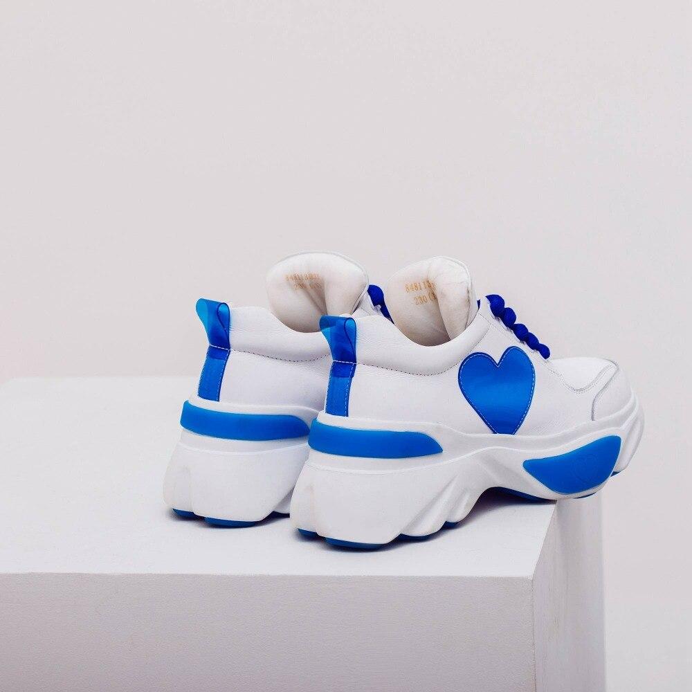 Sneakers Imperméable rosy Cuir Lenkisen Chaussures Mélangées À Épais Taille Lacets Véritable Vulcanisées En Grande Européen Bleu De L55 Fond Style Couleurs SpqUzMGLV