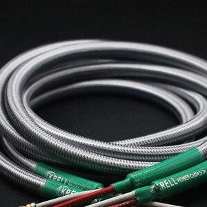 Image 3 - Głośnik hifi kabel Audio pozłacana wtyczka bananowa kabel audiofilski OFC i srebrny Krell wzmacniacz Speakon kable wiązkowe