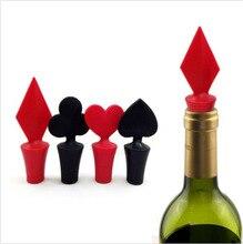 Poker Shaped Silicone Wine Bottle Stopper