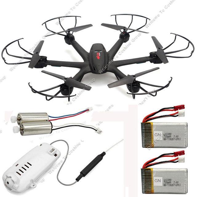 Envío gratis! MJX X600 2.4 G 6 Axis 3D RC Quadcopte y C4005 FPV aérea Cam + 2 la batería + 2 motores