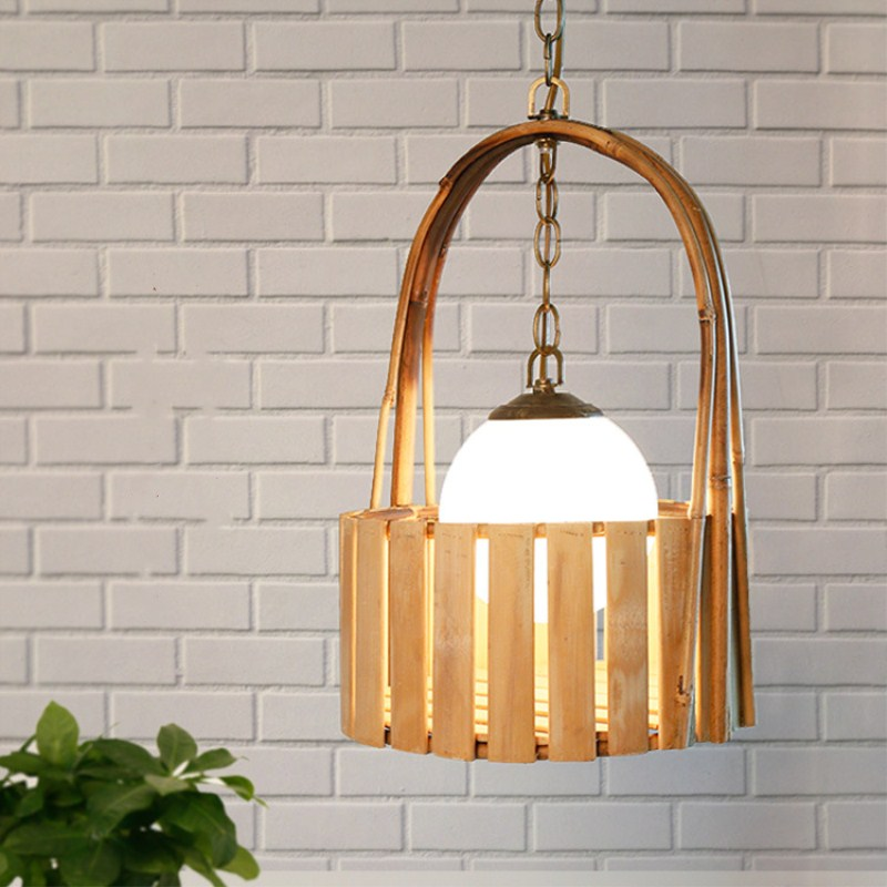 Japan Country Style Retro Concise Bamboo Weaving Basket Pendant Lamp Cafe Restaurant Parlor Aisle Decoration Lamp Free Shipping new arrival modern chinese style bamboo wool lamps rustic bamboo pendant light 3015 free shipping