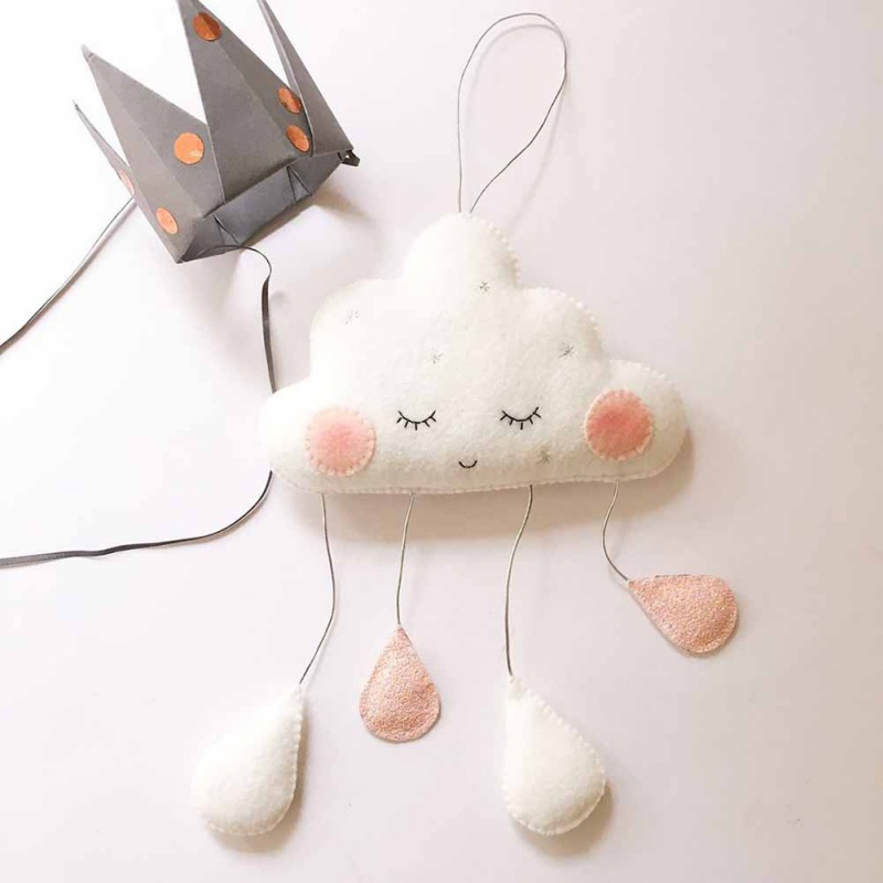 e7085c24c5c67 US $3.32 23% OFF|3D Cloud Raindrop Banner Garlands Kids For Baby Shower  Decoration Birthday Party Decor Wedding Party Home Decoration-in Wind  Chimes & ...