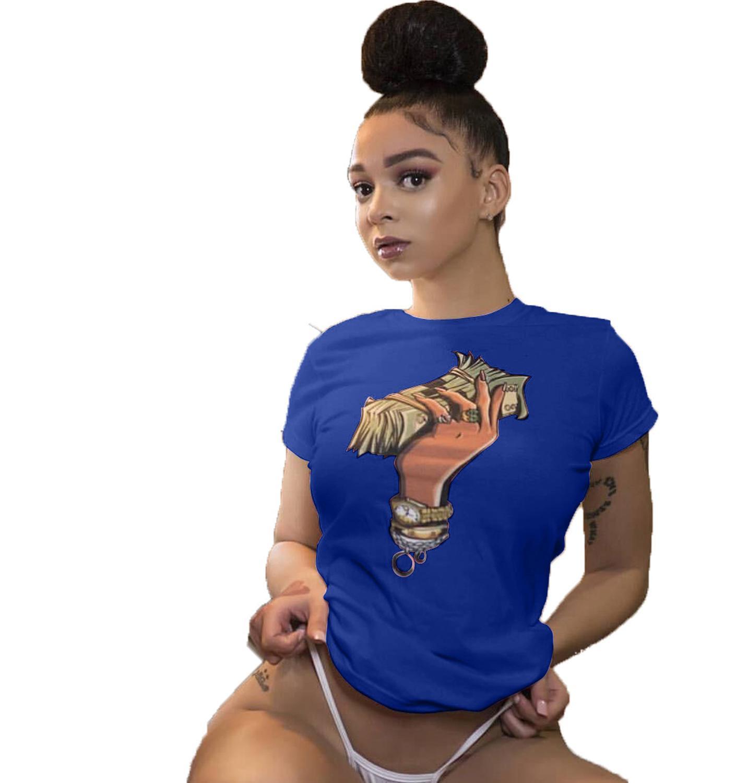2019 New Women T Shirts Funny Printed More Money Tops Tee Shirts Ladies' T Shirts Streetwear S-XXL XXXL