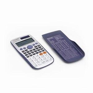 Image 4 - Фирменная Новинка FX 991ES PLUS оригинальный научный калькулятор 417 функции для старшей школы Университета студенты офис монета батареи