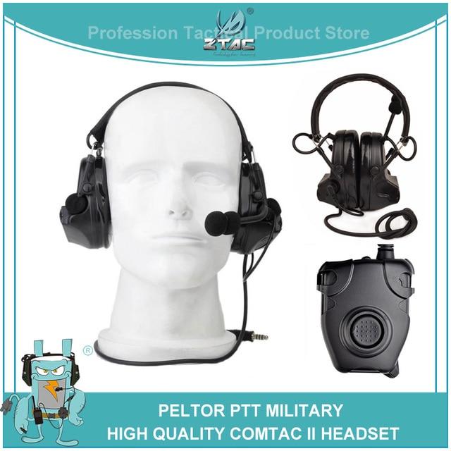 Z tac Airsoftsports טקטי אוזניות Peltor Comtac 2/II צבאי Softair רעש ביטול אוזניות Z041 עם Kenwod PTT z112