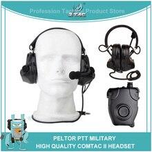 Z tac Airsoftsports taktische Kopfhörer Peltor Comtac 2/II Militär Softair Noise Cancelling Headset Z041 Mit Kenwod PTT z112