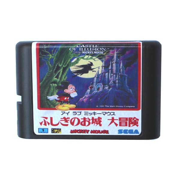 Mickey Mouse Castle of illusion 16 bit MD Game Card For Sega Mega Drive For Genesis