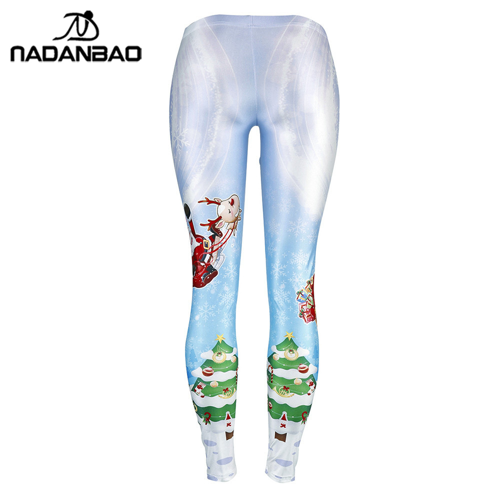 4b1f5220f6c053 NADANBAO Snowflake Elk Leggings Women Plus Size Leggins Santa Claus  Christmas Tree Bell Legging -in Leggings from Women's Clothing on  Aliexpress.com ...