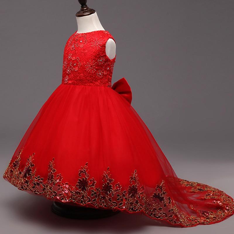 Dlouhá trubka mořská panna krajka tulipán květinové šaty šaty - Dětské oblečení