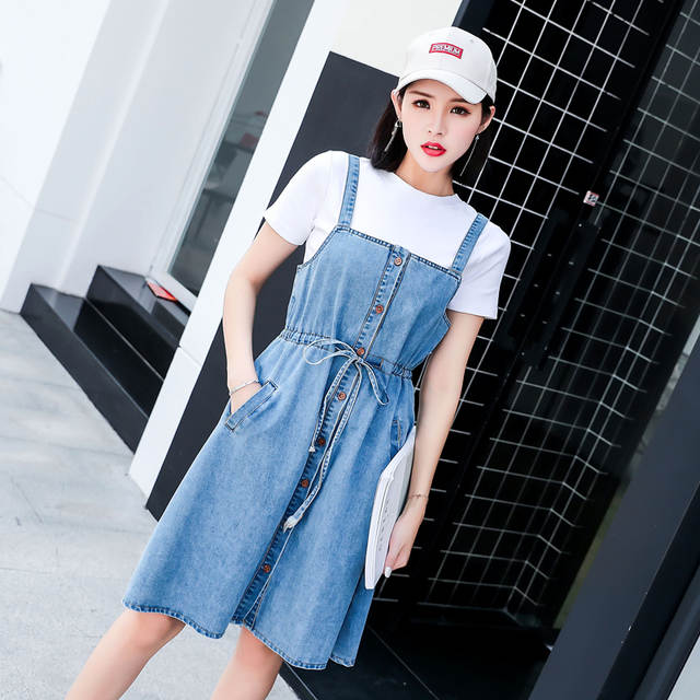 c6be8a81b43fa US $15.11 37% OFF|2019 Casual Party Dresses Girl Tunic Beach Dress Clothes  Sundresses And Denim Jean Sundress Women Christmas Female-in Dresses from  ...