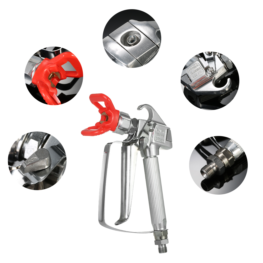 High Efficiency 3600PSI High Pressure Airless Paint Spray Gun With Nozzle Guard For Pump Sprayer And Airless Spraying Machine стоимость