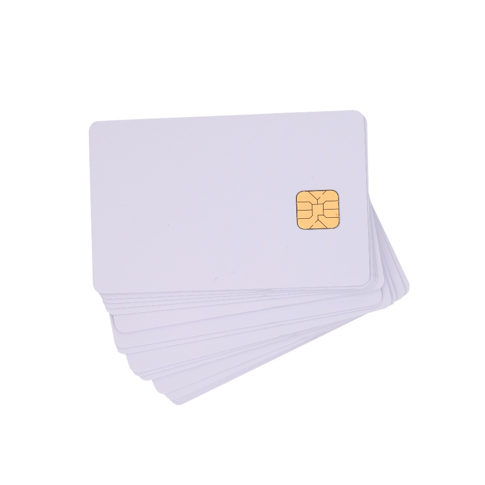 100PCS Ink-jet printing Inkjet Printable Smart IC Cards ISO7816 SLE 4428 Chip Blank PVC Contact IC Cards for inkjet printer 200pcs lot printable pvc contact smart ic blank card with sle4428 chip 1k memory for e pson c anon inkjet printer page 2 page 5 page 5