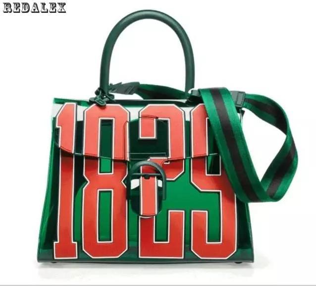 2017 New Summer Transparent Jelly Bag 3d Digital Totes Bag Waterproof High Quality Women Shoulder Messenger Bag Bolsos Mujer 2017 new summer 369 digital