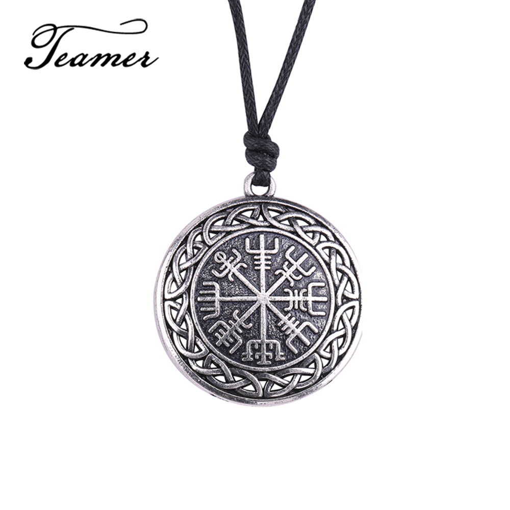 Norse Odin Viking Tree of Life Men Women Rope Chain Necklace Pendant Jewelry