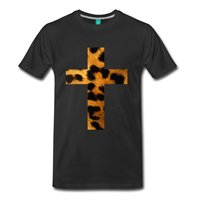 Kreuz leopard herren T-Shirt Herren T-shirts Mode 2017 Chinese Style Kurzarm 100% Baumwolle Mann T Tops Drucken