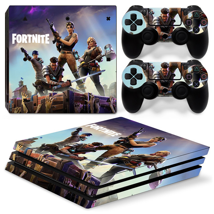 2018 Hot Game Fortnite Vinyl Decal Stickers FOR PS4 PRO Skin Stickers For PS4 PlayStation PRO Console + Controllers Gift