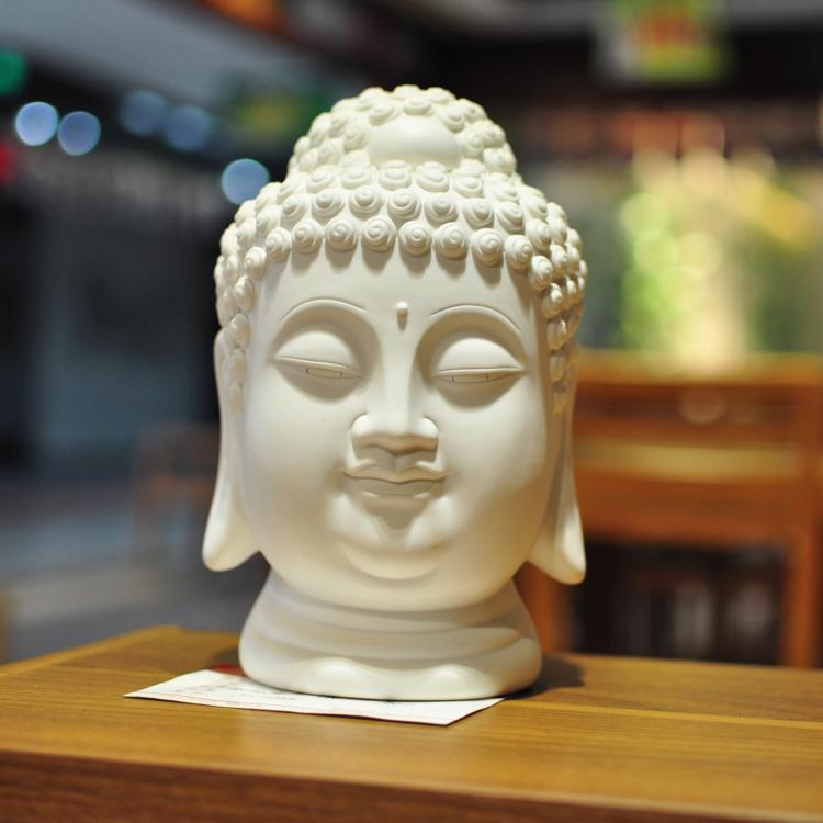 MEIHON Crafts / Religious Pottery Home Decor buddha head decoration indoor