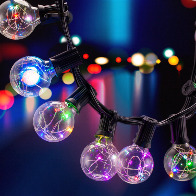 SXZM 5 5M 25LED G40 Bulbs Copper LED String Light Waterproof Outdoor For Street Garden Patio