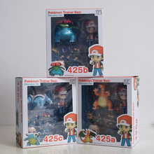 Nendoroid Pokemon Go Ash Ketchum Charizard Venusaur Blastoise Action Figure Champion Ver Doll PVC Anime Game Children Model Toy