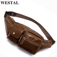 WETSAL Men's Waist Bag Genuine Leather Phone Case Cover Fanny Pack Belt Bag Men Running Pouch Bags Travel Money Belt Hidden 8399