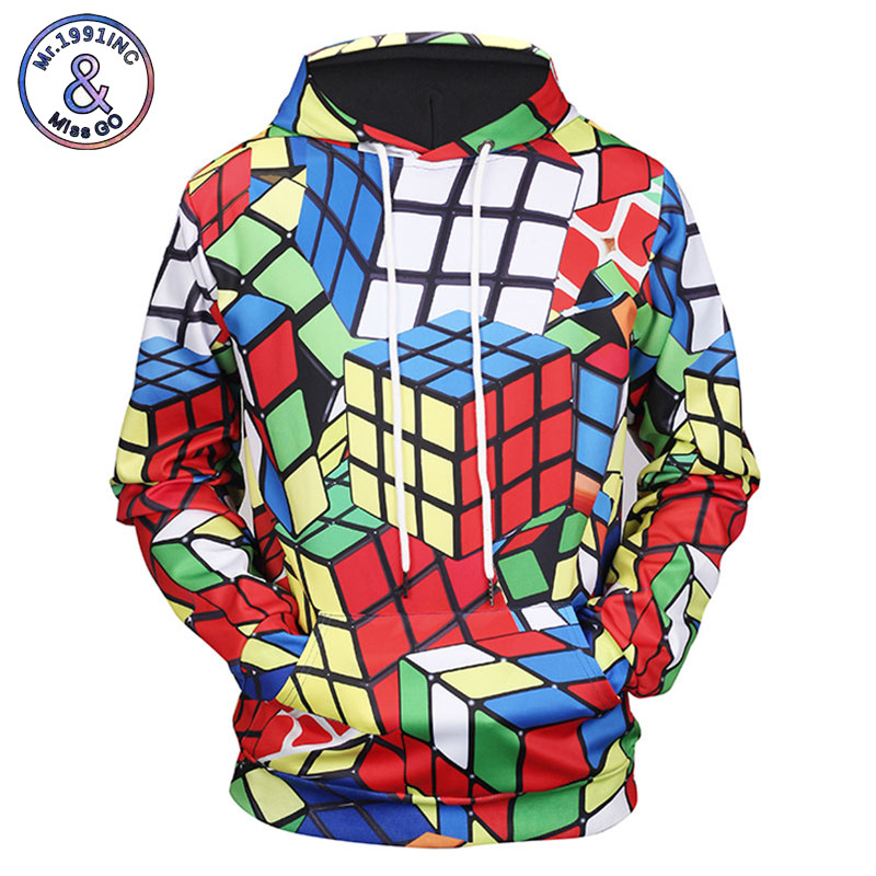 Hoodies & Sweatshirts Hearty Mr.1991inc 2018 New Arrivals Men/women 3d Hoodies Print Rubik Cube Thin 3d Sweatshirts Hooded Hoodies Hoody Tracksuits Tops Regular Tea Drinking Improves Your Health