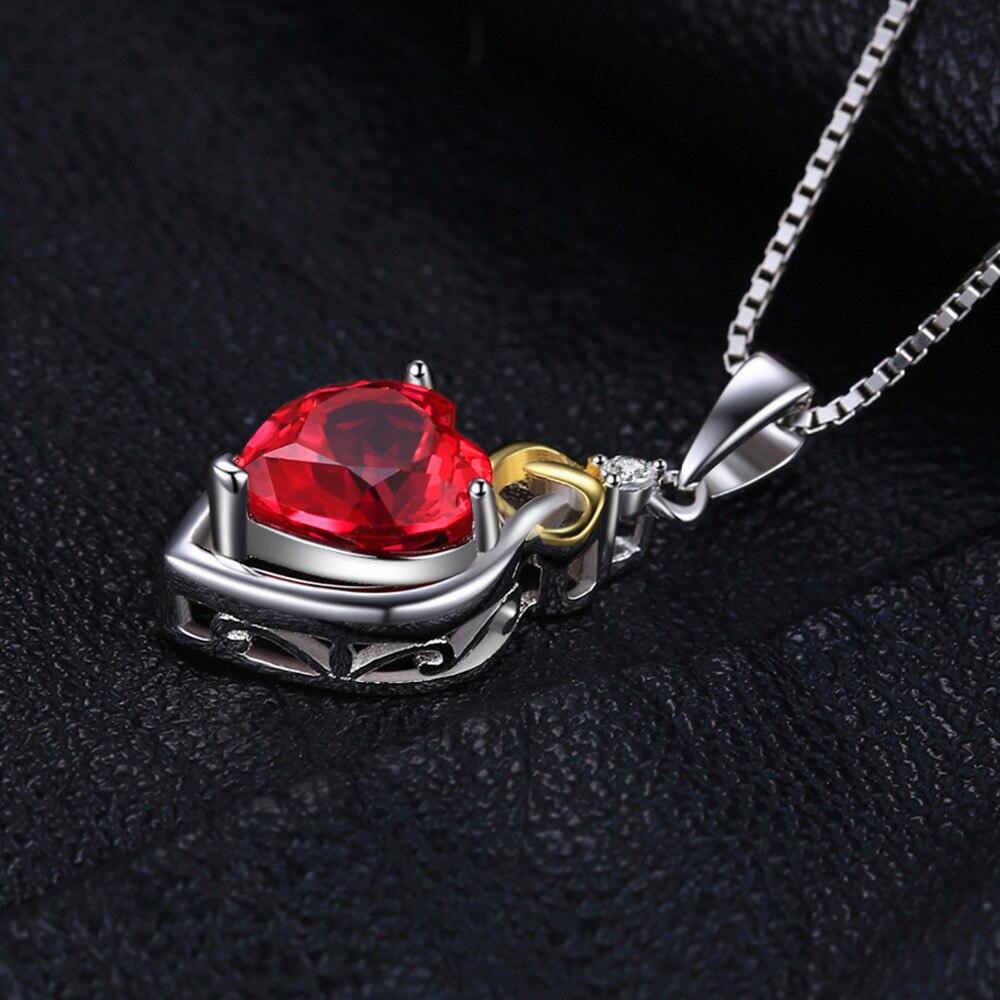 JewelryPalace 2.5ct Yarış Qırmızı Yaqut Kolye 925 Sterling - Gözəl zərgərlik - Fotoqrafiya 4