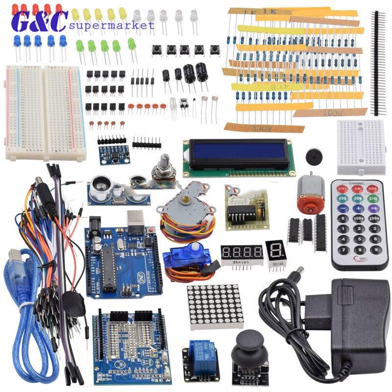 Starter Kit UNO R3 mini Breadboard LCD jumper wire button for Arduino compatileStarter Kit UNO R3 mini Breadboard LCD jumper wire button for Arduino compatile
