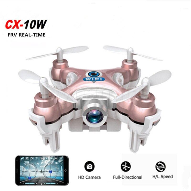 RC MINI font b Drone b font Cheerson CX 10W Dron Quadrocopter RC Quadcopter Nano WIFI