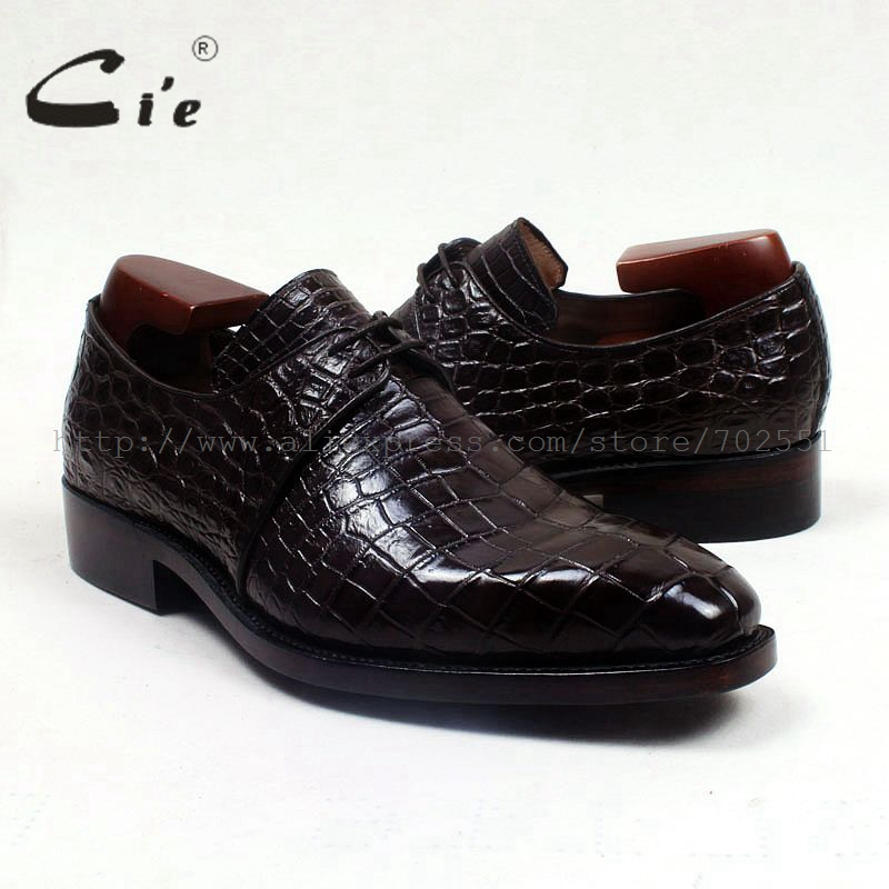 Cie/Мужская обувь ручной работы из натуральной кожи с крокодильей кожей живота и внутренней подошвой; № CR1; goodyear welted