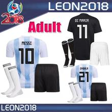 Dwayne Top 2018 world cup Argentines home away Soccer Jersey 18 19 Messi  Football 95aaf32d8