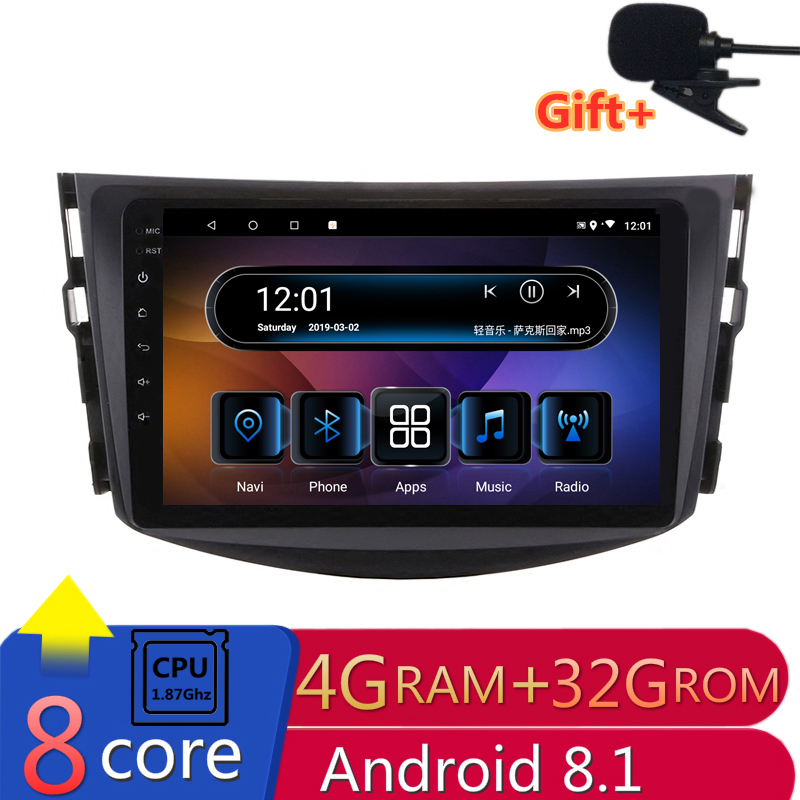 4G RAM Core 1.87 Ghz Android voiture DVD GPS Navigation pour toyota rav4 RAV 4 2007 2008 2009 2010 2011 audio stéréo radio headunit