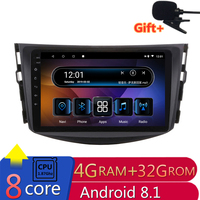 4G RAM Core 1.87Ghz Android Car DVD GPS Navigation for toyota rav4 RAV 4 2007 2008 2009 2010 2011 audio stereo radio headunit