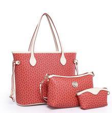 2015 brand new three-piece female portable shoulder diagonal bag ladies bag shoulder diagonal leather handbag picture