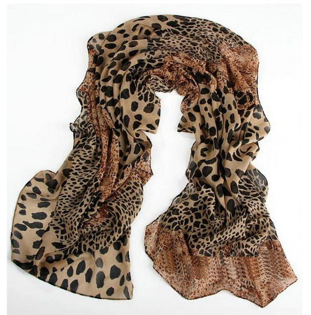 Soft Leopard Chiffon Scarf | Lightweight Scarves | Up to 60% Off Now