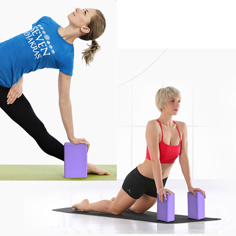 2018 hot sell 2 pcs Fitness Body Building Pilates Foam Foaming Brick Stretch Aid Exercise Gym Yoga Pillows Bricks Block