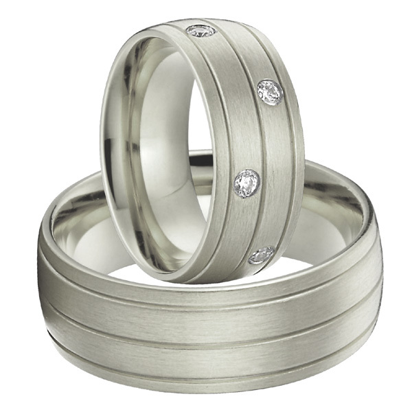 alliances anel Custom titanium steel jewelry silver white gold color wedding promise rings sets for couples bbb