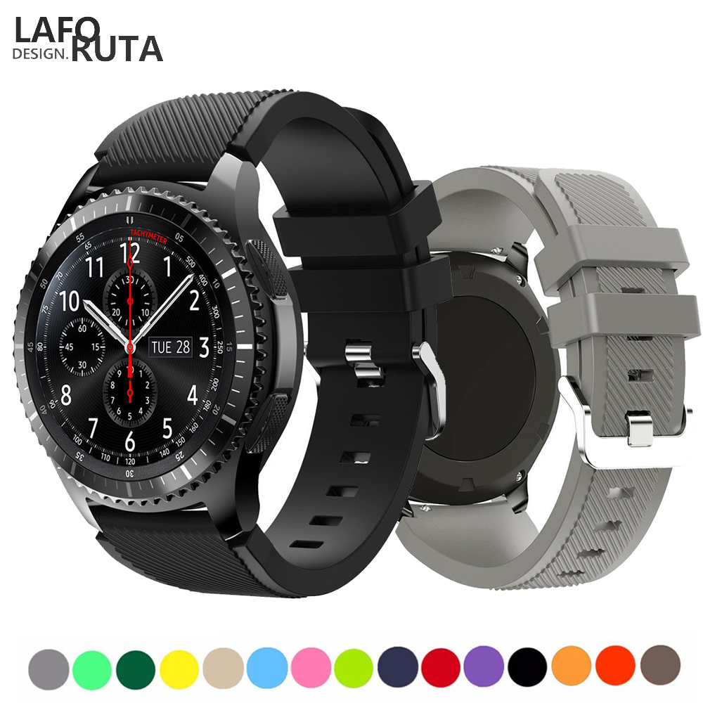 Laforuta Gear S3 Watch Band For Samsung Galaxy Watch 46mm Huawei Watch GT Strap Silicone Fitness Loop 22mm Quick Release Bands