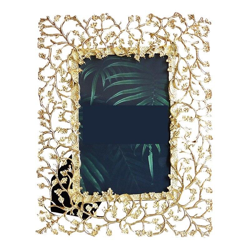 Cadre photo sculpté doré œuvre créative nordique simple modèle européen décoration de chambre cadre photo