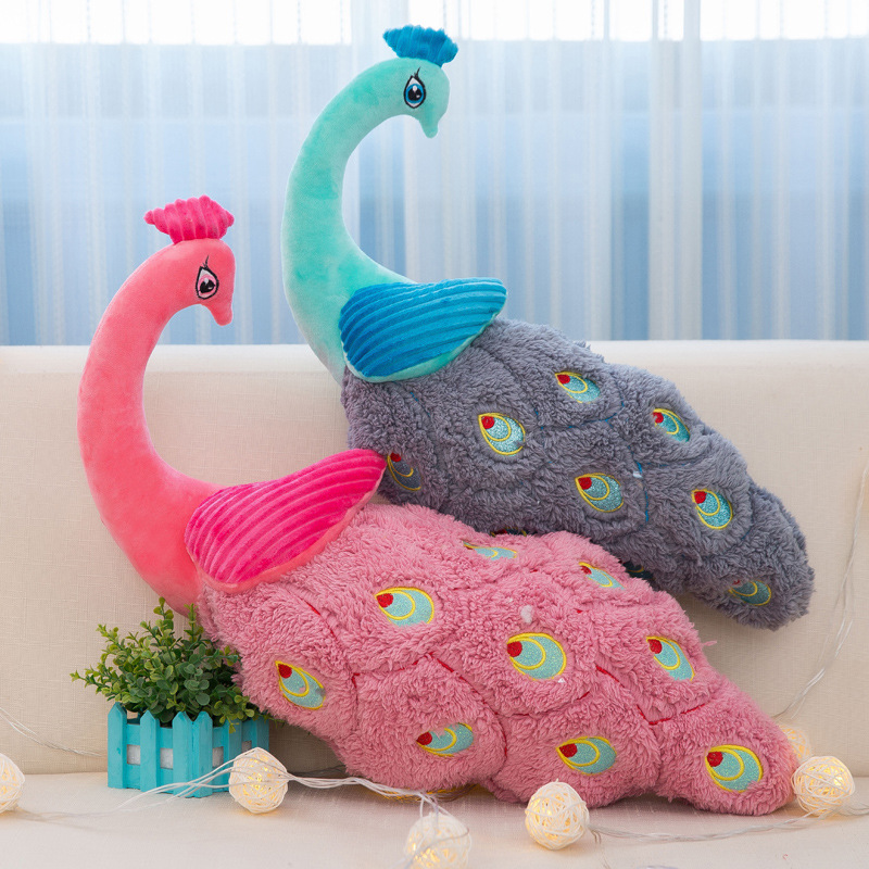 Cartoon Peacock Plush Toy Soft Pillow Sofa Cushion Stuffed Animals Toy Doll Gift