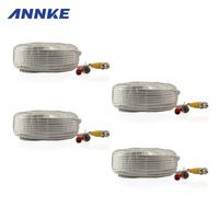 SANNCE 4 Pack 30M 100ft CCTV Cable BNC DC Plug Video Power Cable For Wire AHD