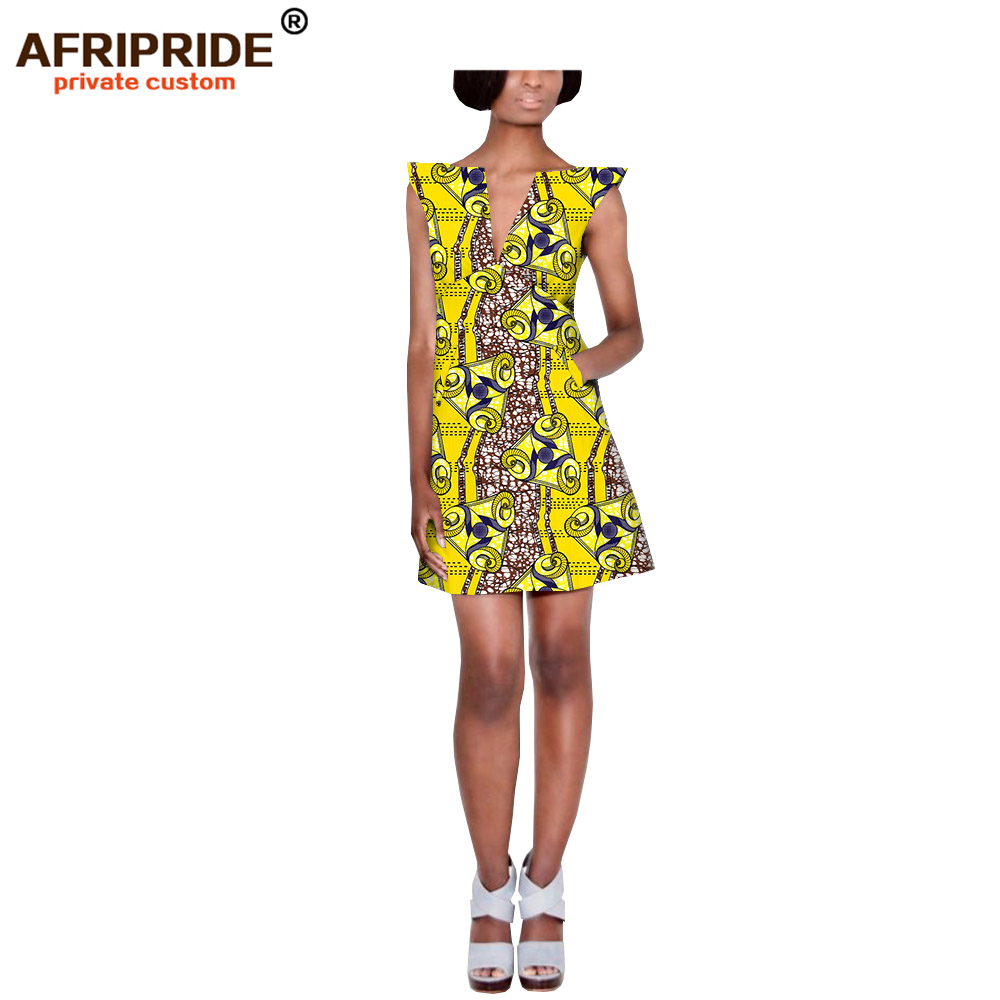 2019 AFRIPRIDE Summer pencil Dress Women Tunic Casual party Dress African Print Robe Femme Plus Size