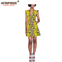 2019 AFRIPRIDE Summer pencil Dress Women Tunic Casual party Dress African Print Robe Femme Plus Size Dashiki Dress A1925009