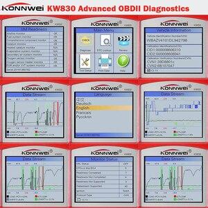 Image 5 - Konnwei KW830 OBD2 ODB2 自動車スキャナ診断ユニバーサル自動車故障エラーコードリーダー ODB2 車診断スキャナ