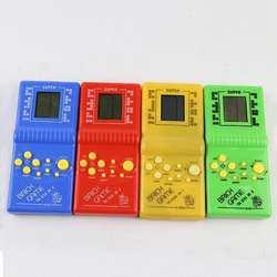 Классический ручная игровая машина игра «тетрис» Детская игровая машина с игры воспроизведения музыки без Батарея